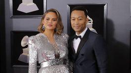 Topmodelka Chrissy Teigen a jej manžel John Legend.