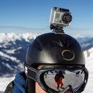 GoPro kamera, prilba, helma, lyžiar, hory, sneh, zima, Francúzske Alpy, Meribel