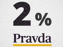 dve percentá dane, Pravda, 2%