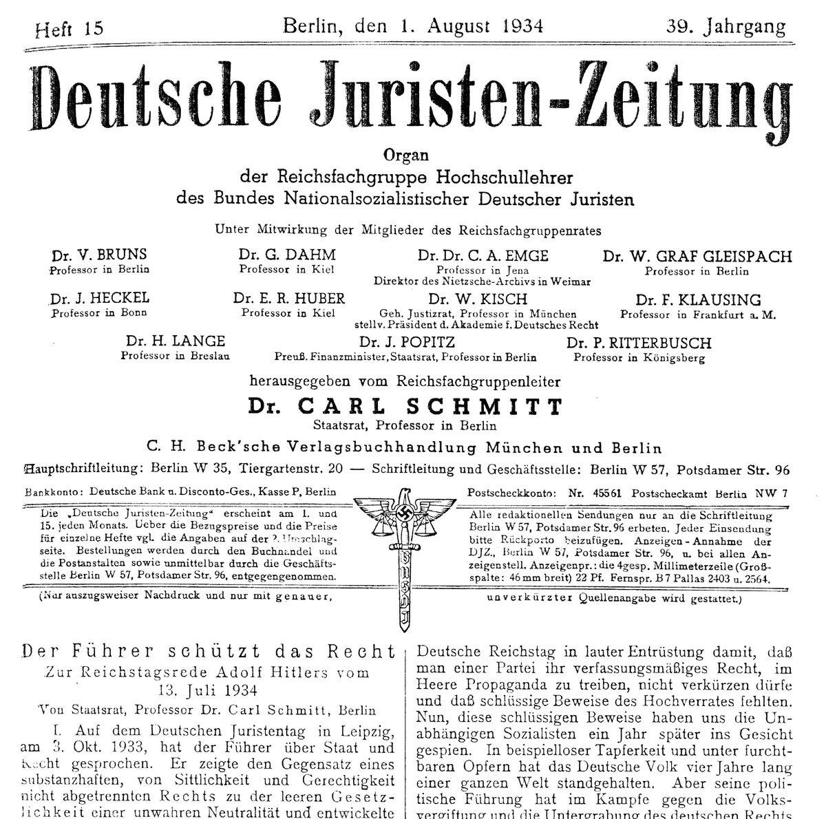 Titulná stránka Nemeckých právnických novín z...
