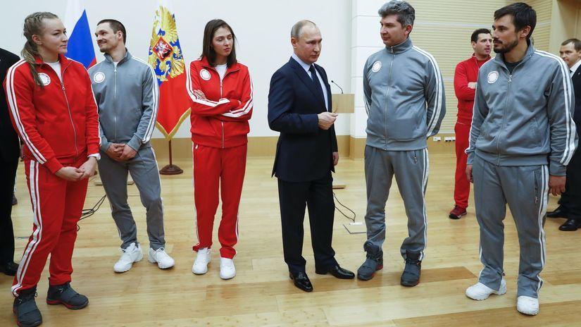 Vladimir Putin, ruský olympijský tím