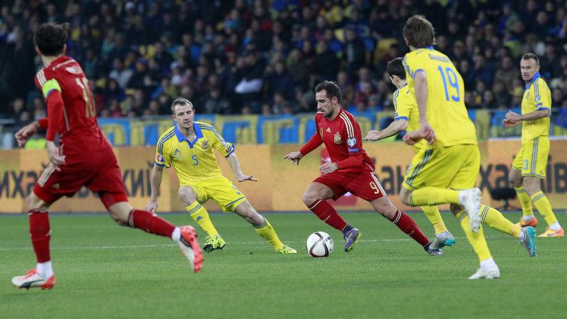 Ukrajina, Španielsko, futbal