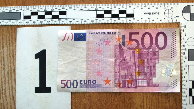 Falzifikát bankovka 500 eur