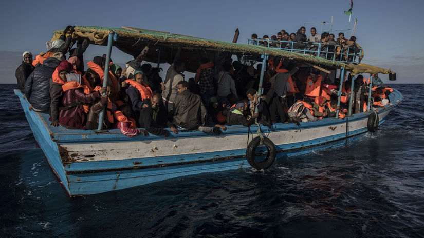 migrant, utečenec, akcia, líbya, stredozemne...