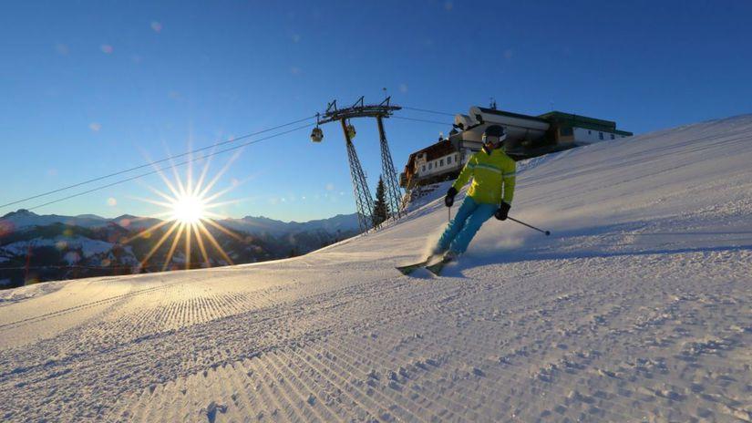 Skikeriki, lyžiar, lyžovačka