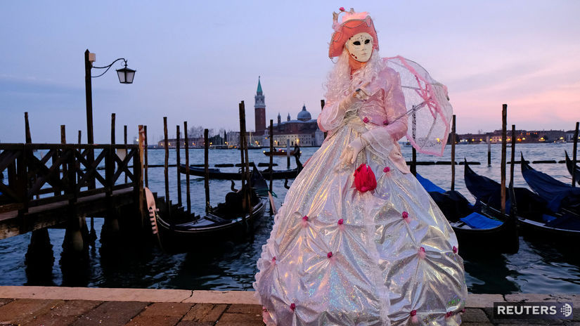 Benátky, karneval, Taliansko, masky,