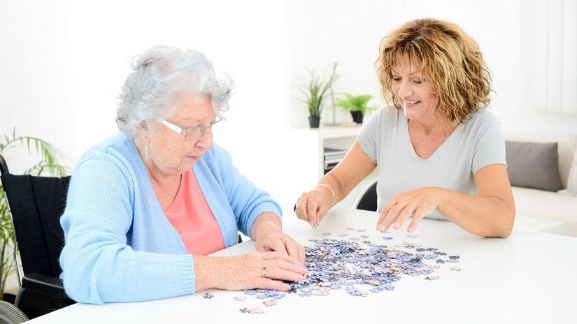 dôchodkyňa, puzzle