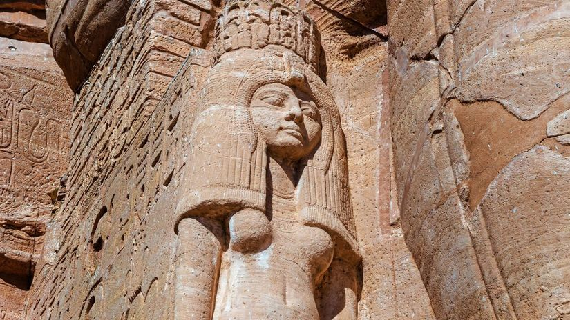 Socha Nefertiti, Abu Simbel, Egypt