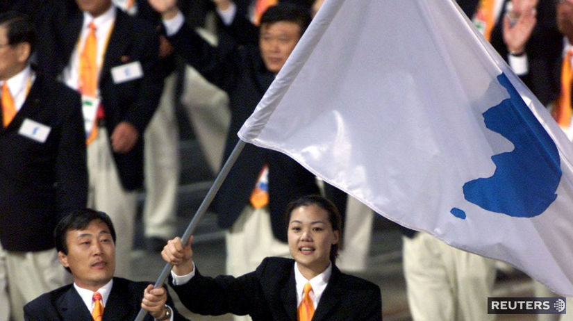 Zimná olympiáda, Kórea, vlajka