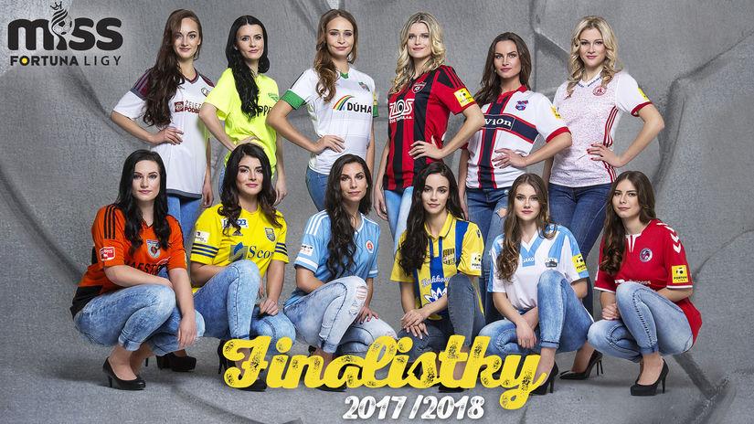 Finalistky Miss Fortuna ligy 2017/18.