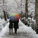 Irán, sneh, zima, dážnik