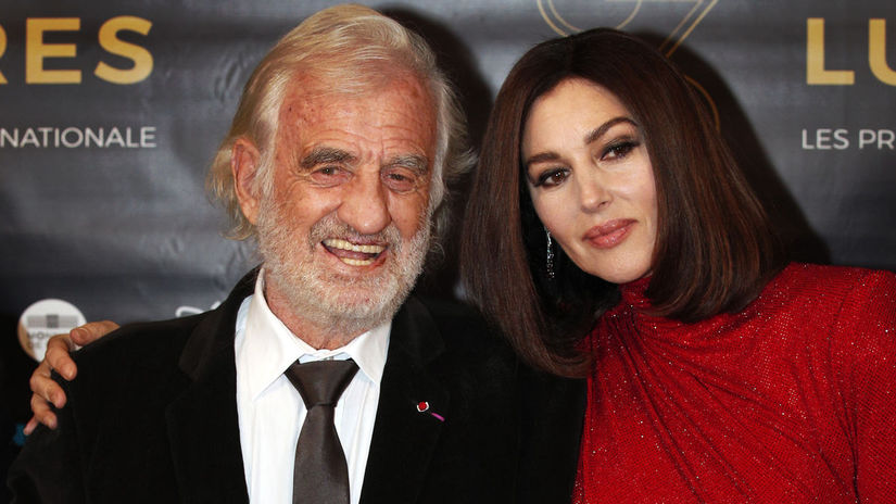 Jean Paul Belmondo a herečka Monica Bellucci