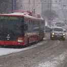 Bratislava Počasie Sneh, sneženie, trolejbus