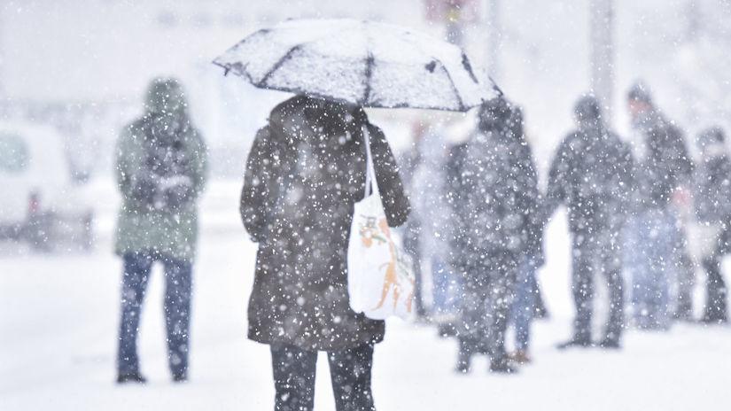 Bratislava počasie sneh zima, snezenie,...