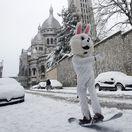 Francúzsko počasie Európa sneh Paríž