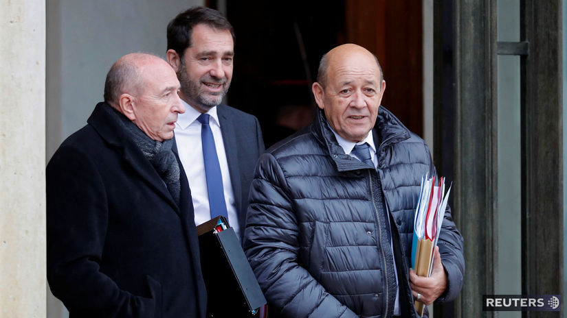 Francúzsko, politici, Gerard Collomb (vľavo),...