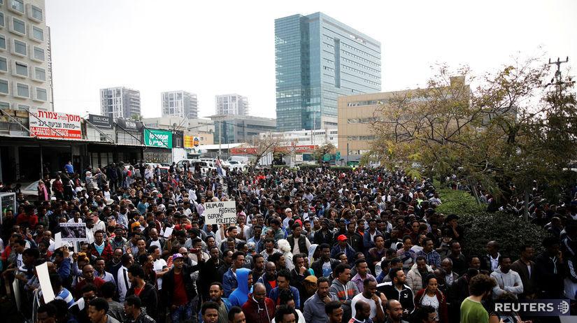 Izrael, migranti, protest