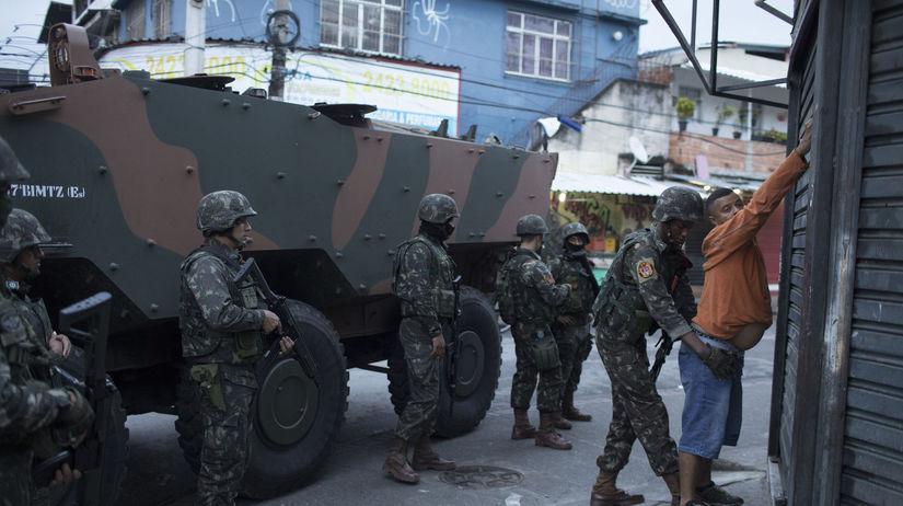 Brazília, vojak, vojaci, policajt, polícia