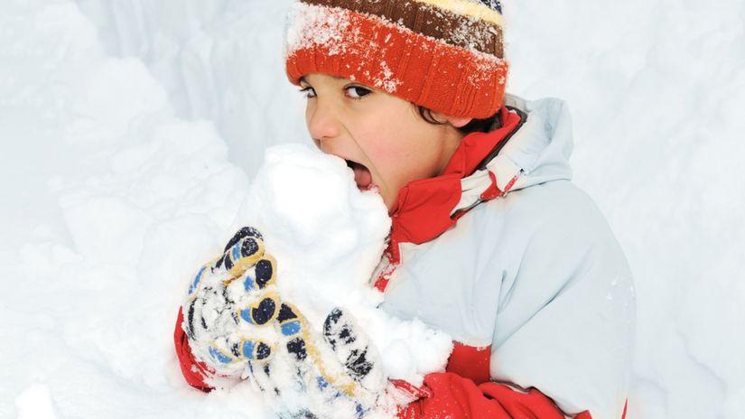 sneh, dieťa, zima
