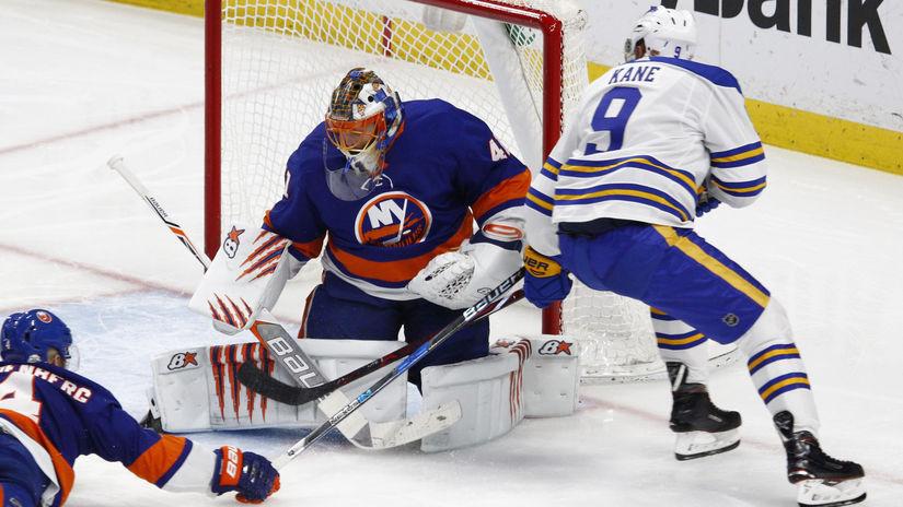 USA hokej NHL Islanders Sabres Halák