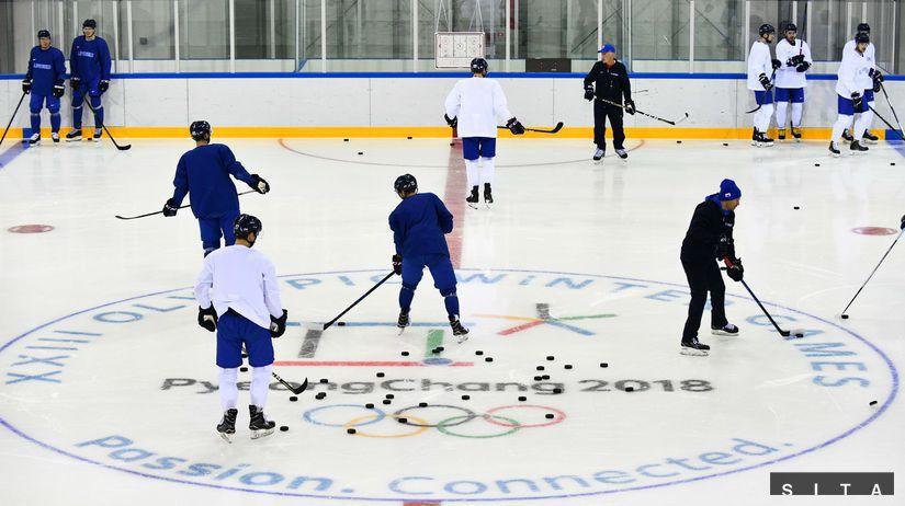 Tréning, hokejisti