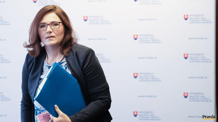 Martina Lubyova, ministerka, školstvo, TB k...