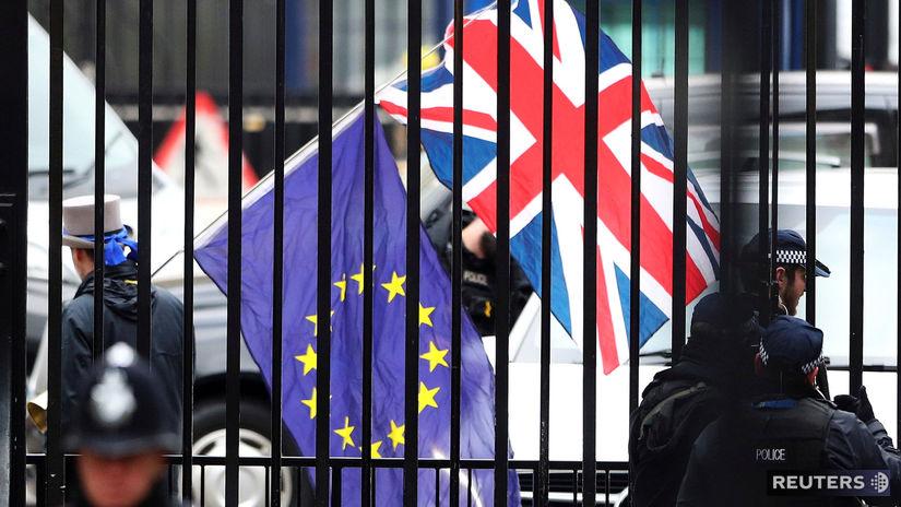 vlajky, Veľká Británia, Európska únia, Brexit