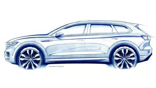 VW Touareg: Nová generácia na prvej skici. Bude opäť z Bratislavy