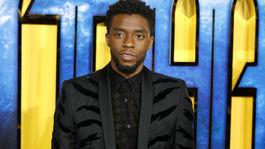 Herec Chadwick Boseman. Hlavný predstaviteľ filmu Čierny panter.