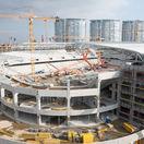 FOTO: Stavenisko sa mení na krásny štadión. Pozrite si snímky z Tehelného poľa