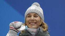 ZOH 2018, biatlon, striebro, Kuzminová