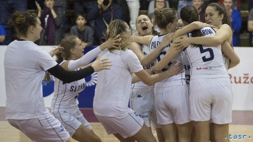 Slovenky, basketbal, radosť
