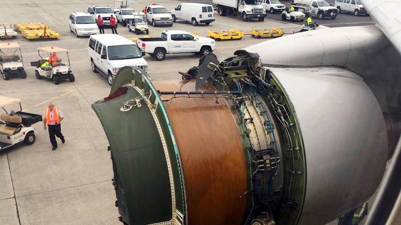 USA Honolulu United Airlines pristátie núdzové