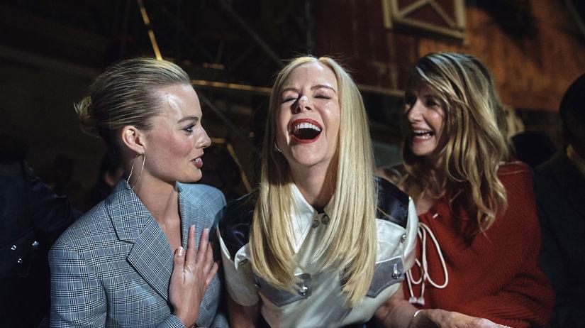 Zľava: Herečky Margot Robbie, Nicole Kidman a...