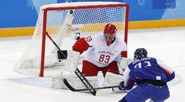 ZOH 2018, hokej, Slovensko - Rusko, Ďaloga