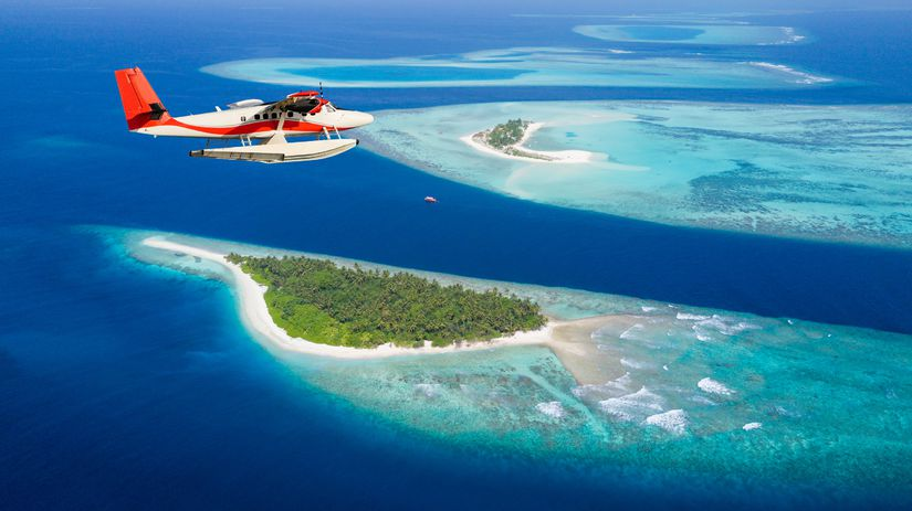 lietadlo, Maldivy,