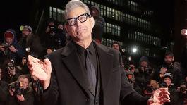 Herec Jeff Goldblum na premiére filmu Isle of Dogs v Berlíne.