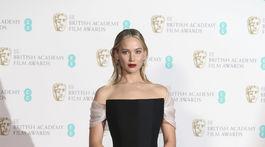 Herečka Jennifer Lawrence vyzerala úchvatne v kreácii Christian Dior Haute Couture.