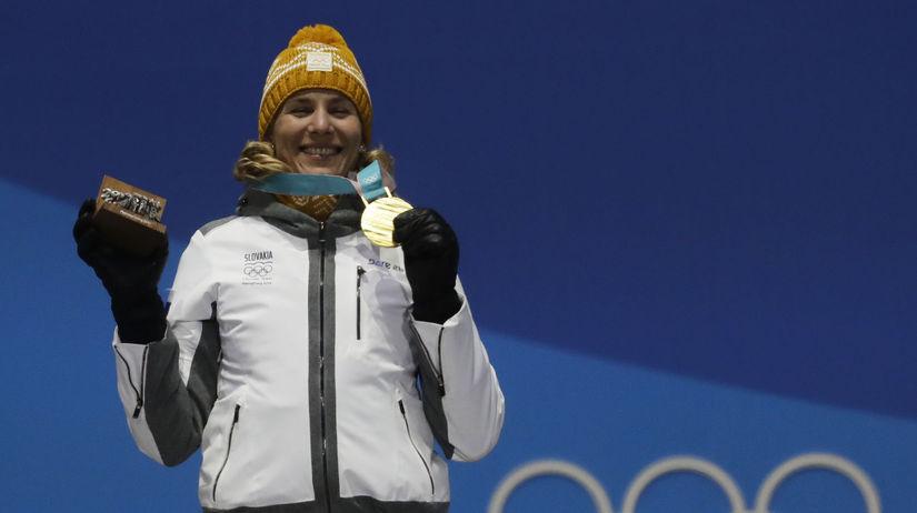 ZOH 2018, biatlon, zlato, Kuzminová