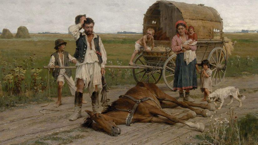 György Vastagh, Zúbožení Cigáni, maľba