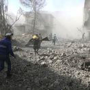 Sýria Damask nálety obete ghúta východná ghúta