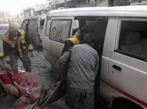 Sýria Ghúta Damask nálety obete