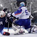 ZOH 2018, hokej, osemfinále, Slovensko - USA