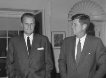 Billy Graham, john f kennedy