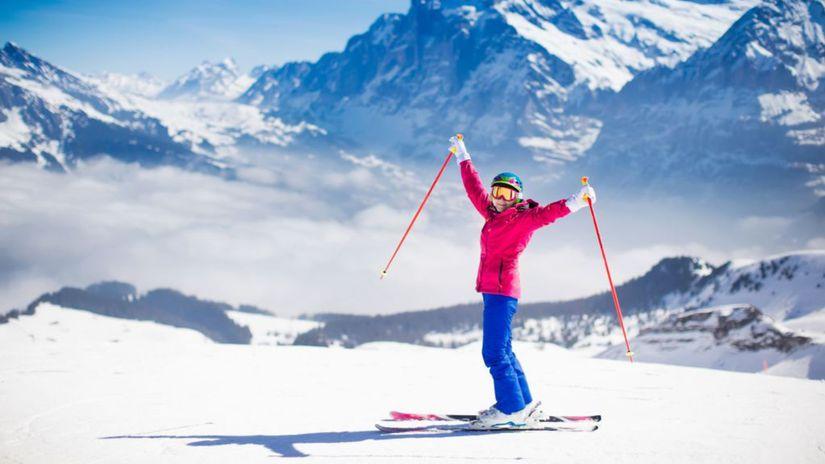 lyže, lyžovanie, lyžiar, zima, sneh, prázdniny,...