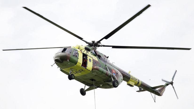 SIAF 2014: Medzinárodné letecké dni Vrtuľník Mi-17
