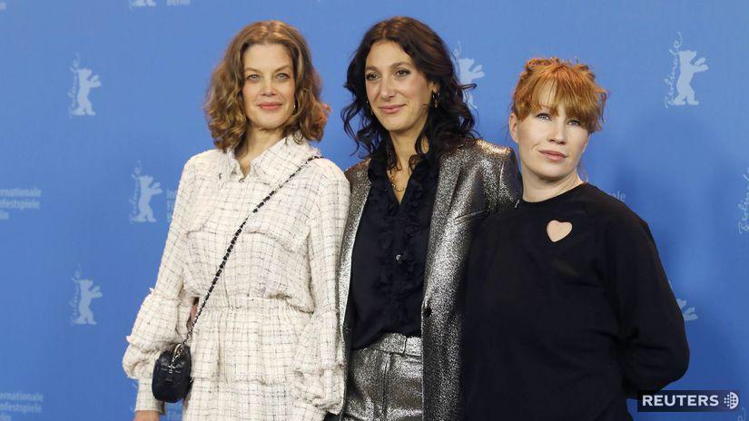 Trio z filmu Tri dni v Quiberone - Zľava: Herečka Marie Baumer, režisérka Emily Atef a herečka Birgit Minichmayr.