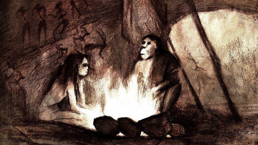 neandertálci, jaskyňa, umenie