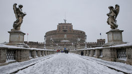 Rím, sneh, zima, Taliansko, Anjelský hrad