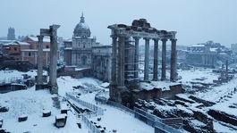 Rím, sneh, zima, Taliansko, Forum Romanum